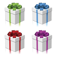 gift or present four colors vector image vector image