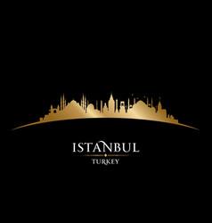 istanbul turkey city skyline silhouette black vector image vector image