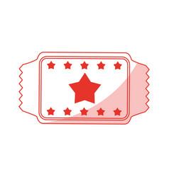 red ticket design vector image