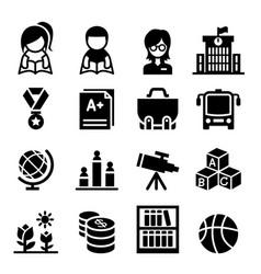 School education icon vector