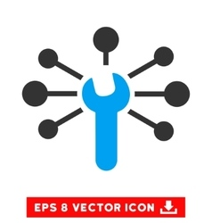 Service Wrench Relations Eps Icon vector image vector image