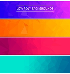 Set of low poly backgroundsDesign elements in vector image