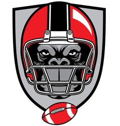 ape football mascot vector image