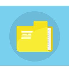 Folder Icon Flat Design vector image vector image
