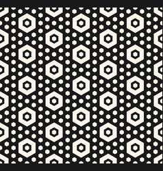 Geometric seamless pattern with hexagons vector