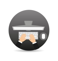 hand writing on device icon vector image
