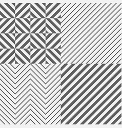 set of seamless tile diagonal lines vector image vector image
