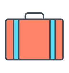 travel bag line icon simple minimal pictogram vector image vector image