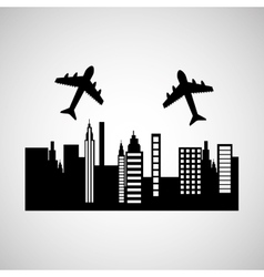 travel transportation airplane vector image
