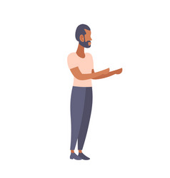 african american man pointing hands gesture vector image