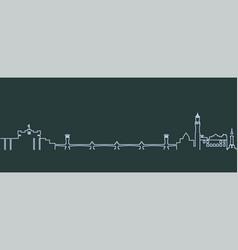 Alexandria single line skyline vector