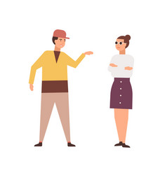 Arguing couple flat family vector