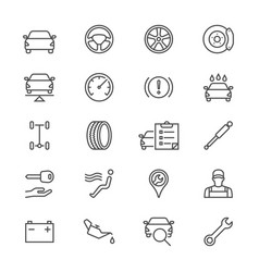 auto service thin icons vector image