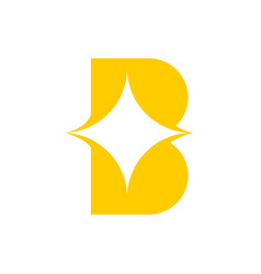 b for bright logo vector image
