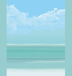 Background turquoise sea and blue sky vector
