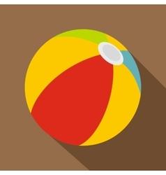 Beach ball icon flat style vector