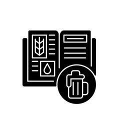 Beer recipe black glyph icon vector