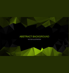 black and green polygonal background vector image
