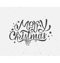 Black and white vintage poster for Christmas vector