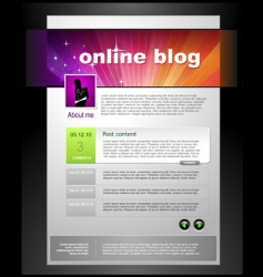 blog template vector image