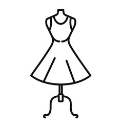 Body mannequin icon outline style vector