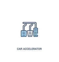 Car accelerator concept 2 colored icon simple vector