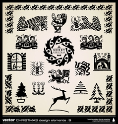 Christmas decorative design elements vector