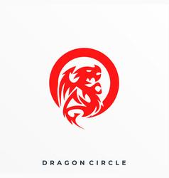 Circle dragon template vector