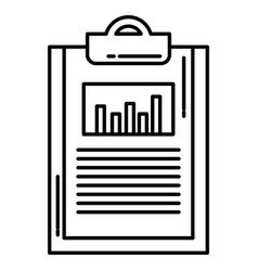 Clipboard paper with statistics vector