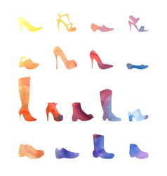 color set of different shoes vector image