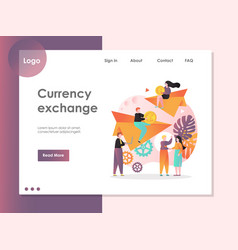 currency exchange website landing page vector image
