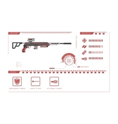 details gun sniper rifle game perks vector image