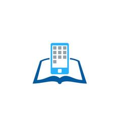 Device book logo icon design vector
