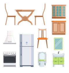 different furniture for living room and kitchen vector image
