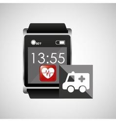 Digital smartwatch healthy ambulance vector