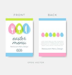 easter restaurant menu or brochure design vector image