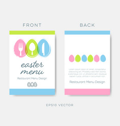 Easter restaurant menu or brochure design vector