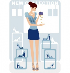 economy shopping vector image