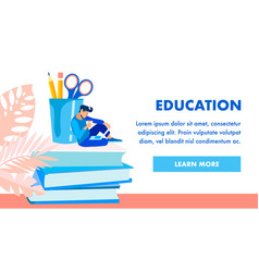 Educational institution homepage template vector