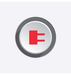Electric plug sign Power energy symbol Red sign vector image vector image