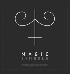 Element of magical symbol on gray vector