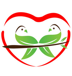 environmental love doves icon vector image