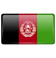 Flags Afghanistan in the form of a magnet on vector image
