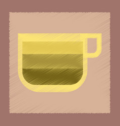 Flat shading style icon cup coffee latte macchiato vector