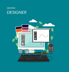 graphic designer flat style design vector image