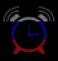 Halftone russian buzzer icon vector