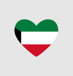 Heart of the colors of the flag of kuwait vector