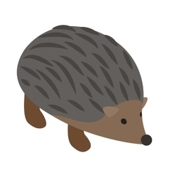 Hedgehog icon isometric 3d style vector