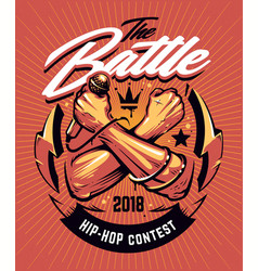 Hip-hop battle poster design vector