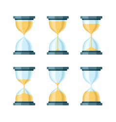 Hourglass modern icons set vector